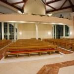 Modern church interior — Stock Photo