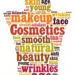 Cosmetics and makeup word cloud — Stock Photo