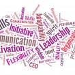 Stock Photo: Business skills word cloud