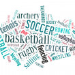 Sports word cloud — Foto Stock