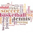 Sports word cloud — Stock Photo