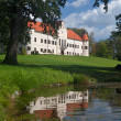 Luznica baroque manor — Stock Photo