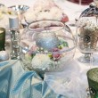 Elegant wedding decorations — Stock Photo