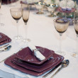 Elegant wedding dinner — Foto Stock