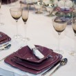 Elegant wedding dinner — Stock Photo #33010567