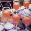 Stock Photo: Fruit cocktails on party