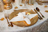 Luxurious wedding dinner — Stock Photo