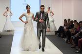 Fashion models bride and groom — Foto de Stock