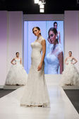 Fashion model in wedding dress — Foto de Stock