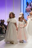 Children models dressed as bridesmaids — Foto de Stock