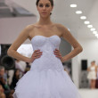 Stock Photo: Fashion model in wedding dress