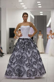 Fashion model in wedding dress — Stock Photo