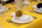 Elegant wedding dinner — Stock Photo