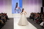 Fashion model in wedding dress — Photo
