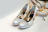 Elegant bridesmaid shoes — Photo