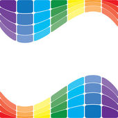 Colorful wavy rainbow on white background - vector — Stock Vector