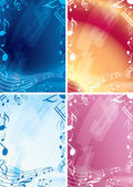 Abstract music backgrounds - set of vector frames — Stock Vector