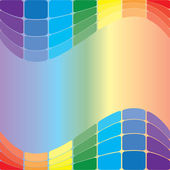 Colorful wavy background - vector — Vector de stock