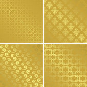 Gold patterns with gradient - vector set — Stock Vector