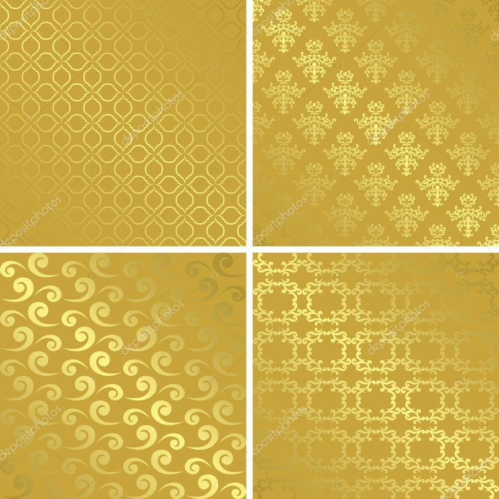 Gold Gradient Vector Gold Patterns With Gradient