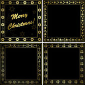Black and gold frames - vector set — Stock Vector