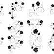 Set of vector decorative floral elements — Stock Vector