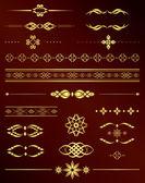Gold vintage elements for design - vector set — Stock Vector