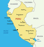 Republic of Peru - vector map