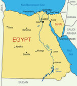 República árabe de egipto - mapa del vector — Vector de stock