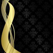 黒ベクトル ゴールド リボンとビンテージ背景 — ストックベクタ