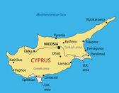 Republic of Cyprus - vector map — Stock Vector