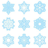 Snowflakes - light blue - vector set — Stock Vector