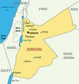 Hashemite Kingdom of Jordan - vector map — Stock Vector