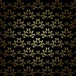 Stock Vector: Black and gold seamless pattern - vector vintage