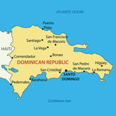 Dominican Republic - vector map — Stock Vector