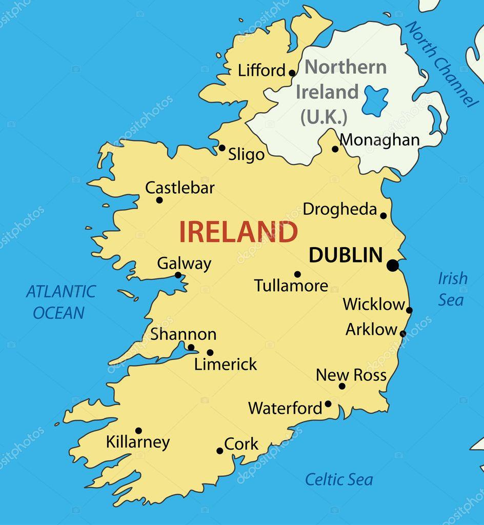 Irlanda Mapa
