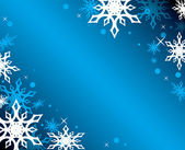 Vector blue background with white snowflakes — Stock Vector