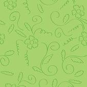 Vector verde transparente textura floral rizada — Vector de stock