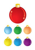Set of christmas decorations - vector balls — Stock Vector