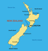 New Zealand - vector map — Stock Vector