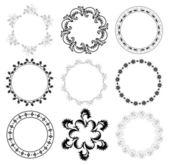 Round decorative frames - vector set — Stock Vector