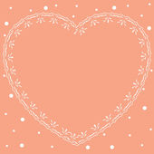 Pink romantic card with ornamental heart - vector — Vector de stock