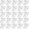 Gray and white floral seamless vector background - Vektorgrafik
