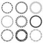 Round decorative frames - vector set — Stock Vector #20830891