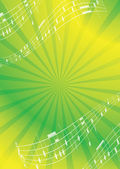 Green and yellow abstract music background - vector flyer — Stock Vector