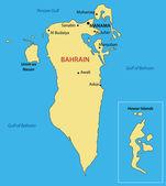 Kingdom of Bahrain - vector map — Stock Vector