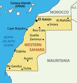 Western Sahara - vector map — Stock Vector