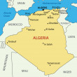 Wektor stockowy : The 's Democratic Republic of Algeria - vector map