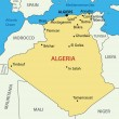 Stock vektor: The 's Democratic Republic of Algeria - vector map