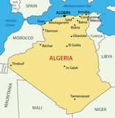 The 's Democratic Republic of Algeria - vector map — Stock Vector